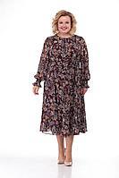 Женское осеннее шифоновое большого размера платье Кэтисбел 1441 48р.