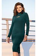 Женское осеннее трикотажное зеленое платье Vittoria Queen 12223 44р.
