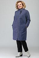 Женское осеннее трикотажное синее большого размера пальто Algranda by Новелла Шарм А3565 60р.