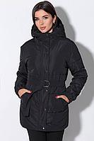 Женская осенняя черная куртка LeNata 11148 черный 44р.