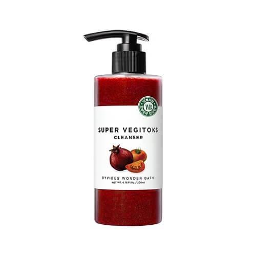 Wonder Bath Осветляющее Детокс Очищение для лица Super Vegitoks Cleanser Red 300мл.