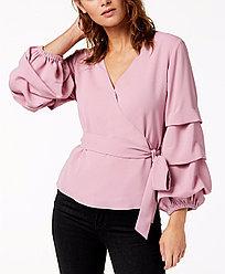 Bar Iii Женская блуза с многоярусныеми рукавами 2000000391823