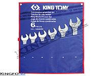 Набор комбинированных ключе 6 пр KING TONY 1296MRN, фото 1