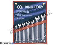 Набор комбинированных ключей 7 пр KING TONY 1207MR, фото 1