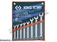 Набор комбинированных ключей 8 пр KING TONY 1208MR, фото 1