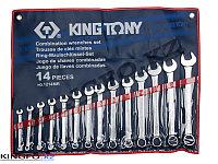 Набор комбинированных ключей 14 пр KING TONY 1214MR, фото 1