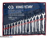 Набор комбинированных ключей 14 пр KING TONY 1215MR01, фото 1