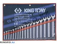 Набор комбинированных ключей 18 пр KING TONY 1218MR01, фото 1