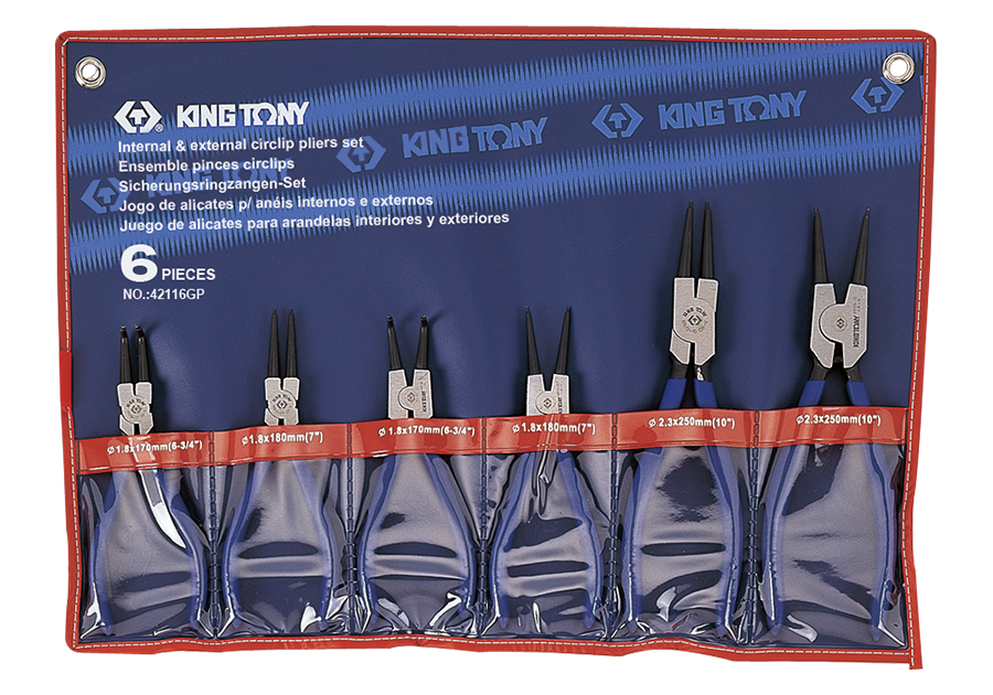 Набор съемников стопорных колец 6 пр. Kung Tony 42116GP.