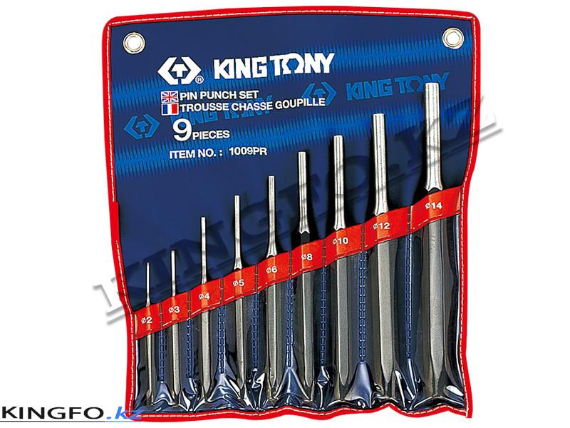 Комплект выколоток, 9 предметов. KING TONY 1009PR