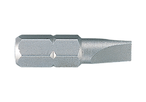 "Вставка (бита) торцевая 1/4"", Slotted, 4x0.8 мм, L=25 мм. King Tony 102504S2."