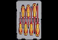 Набор отверток в упоковке, диэлектрические 7 пр. King Tony 30617MR., фото 1
