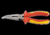 Плоскогубцы удлиненные тонкие загнутые 200 мм, диэлектрические. King Tony 6336-08A.