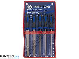 Набор напильников 250 мм, двухкомпонентные рукоятки, 5 пр KING TONY 1015GQ.
