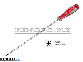 Отвертка удлиненная крестовая Phillips №2, 400 мм KING TONY 14210216.