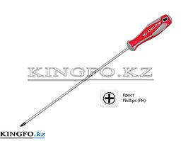Отвертка крестовая Phillips №2, 300 мм KING TONY 14210212.