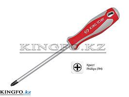 Отвертка крестовая Phillips №2, 100 мм KING TONY 14210204.