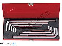 Набор Г-образных шестигранников 3-17 мм, кейс, 10 предметов KING TONY 20210MR