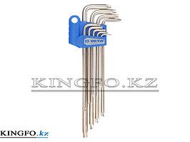 Набор Г-образных TORX, T10-T50, удлиненные 9 предметов KING TONY 20319PR