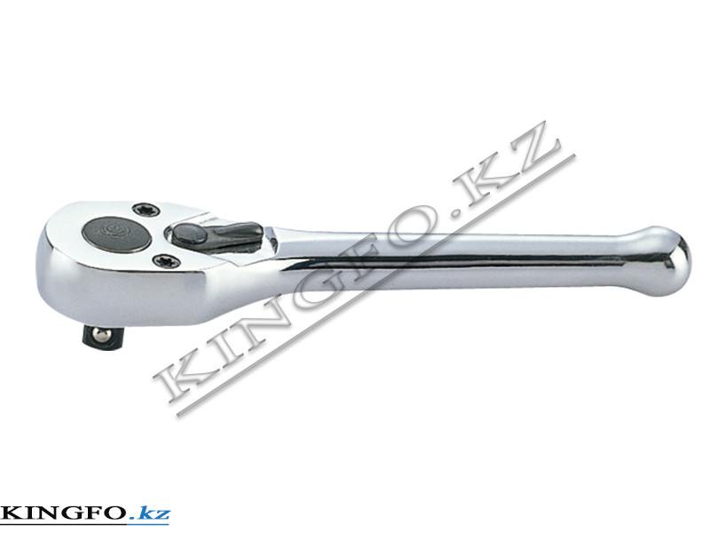 "Трещотка 1/4"", 100 мм, 72 зубца, флажковая (Mini) KING TONY 2760-04"