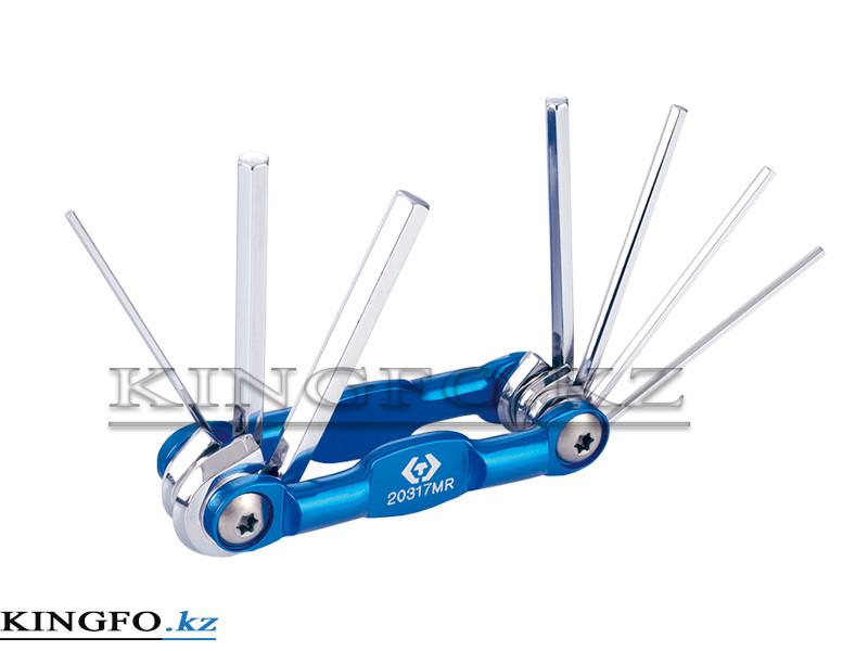 Алюминиевый складной шестигранный ключ 1.5-6 мм, 7 предметов KING TONY 20317MR