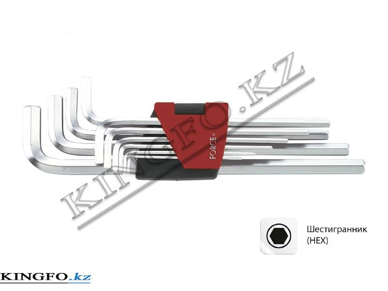 Набор Г-образных шестигранников 1.27-10 мм, 10пр. FORCE 5102XL