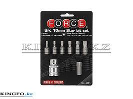 Набор вставок (бит) TORX 8 предметов, FORCE 4081