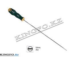 Отвертка удлиненная шлицевая Slotted 5 мм, L=300 мм, с антискользящей ручкой FORCE 655305