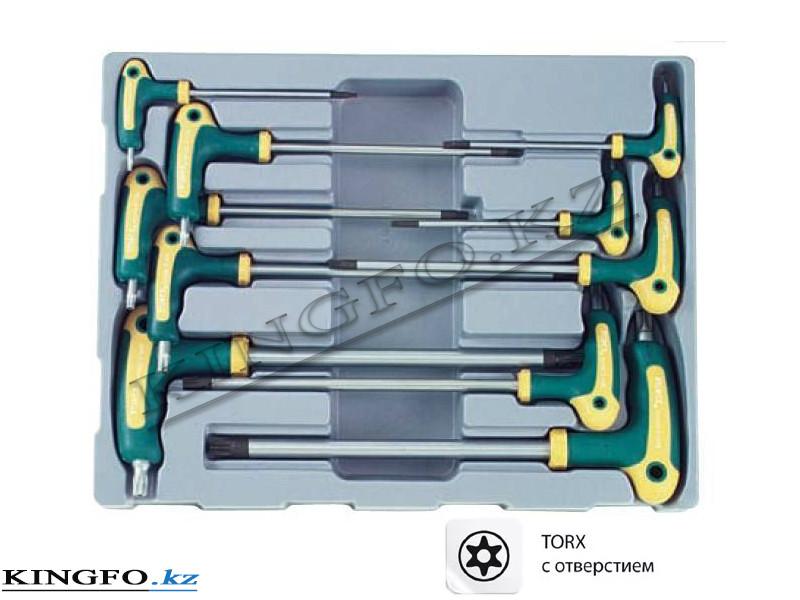 Набор Г-образных отверток TORX с отверстием 10 пр. FORCE 51010T