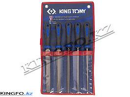 Набор напильников 200 мм, двухкомпонентные рукоятки, 5 пр KING TONY 1005GQ
