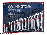 Набор комбинированных ключей 14 пр KING TONY 1215MR, фото 1