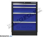Шкаф инструментальный 4 ящика. KING TONY 87D11-04A-KB