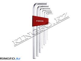 Набор Г-образных шестигранников 2,5-10 мм 7 пр. FORCE 5072XL