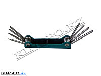 Набор Г-образных ключей TORX T5H-T20H, 8 шт. FORCE 5087TF