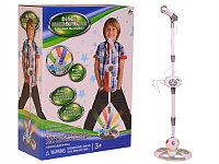 Детский микрофон на стойке с усилителем и светомузыкой