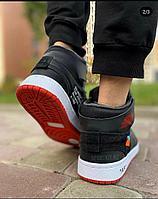 Кроссовки Nike Air Jordan 1 чер красн зим, фото 1
