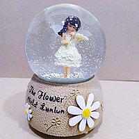 """Музыкальный снежный шар """"Девочка со скрипкой"""", 16см., фото 1"""