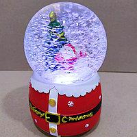 """Музыкальный снежный шар """"Дед Мороз с Подарками"""", 16см."""