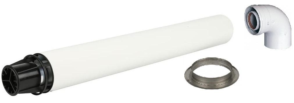 Труба коаксиальная с наконечником универсальная 60*100/ 0,75м Baxi