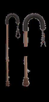 Трость с мягкой полукруглой рукояткой и страховочным ремешком B.Well WR-413