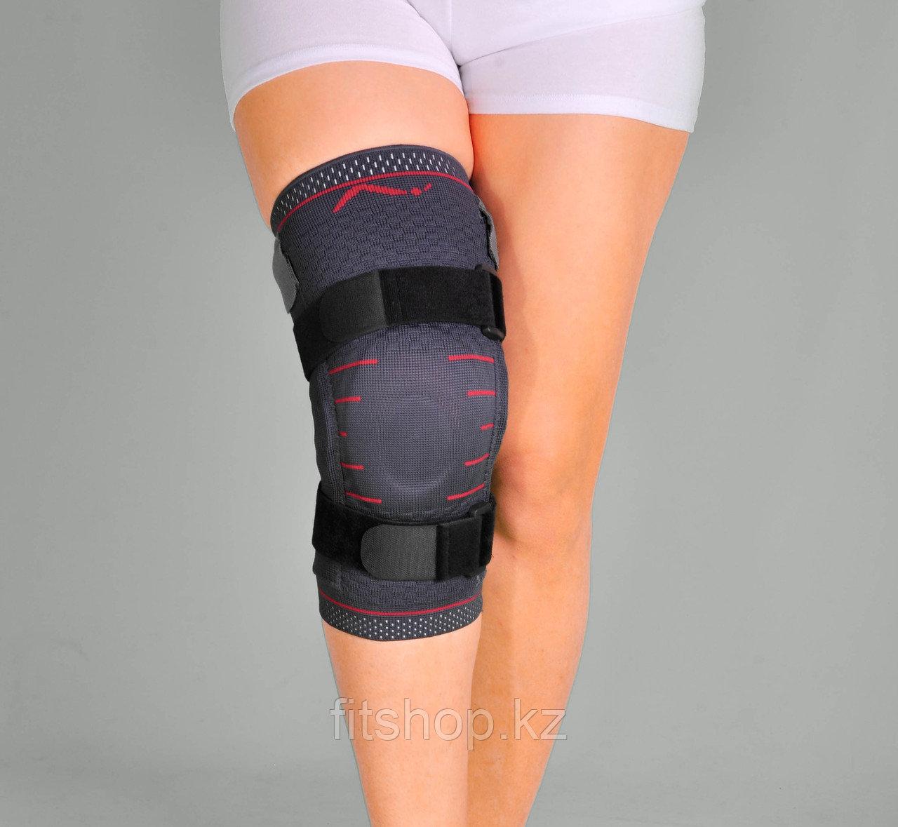 Наколенник эластичный с закрытой коленной чашечкой и с шарнирами Support Line - фото 1