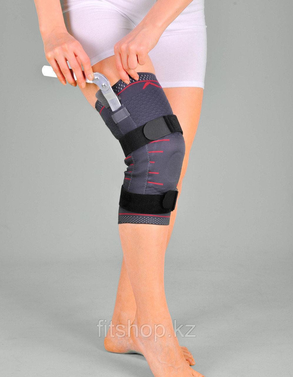 Наколенник эластичный с закрытой коленной чашечкой и с шарнирами Support Line - фото 2