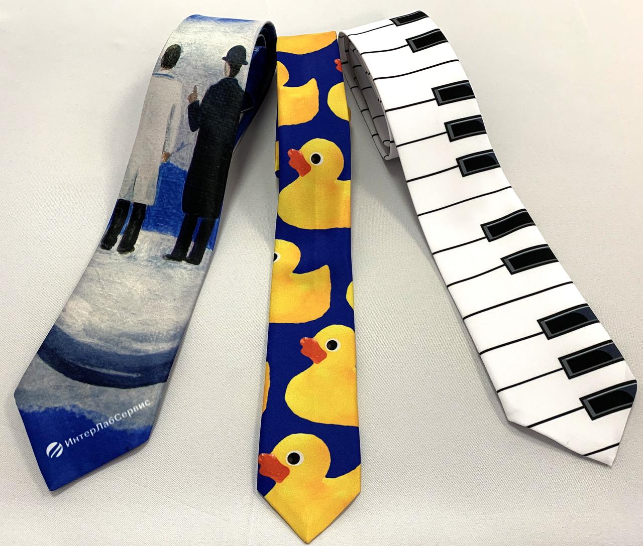 Пошив и печать на галстуках