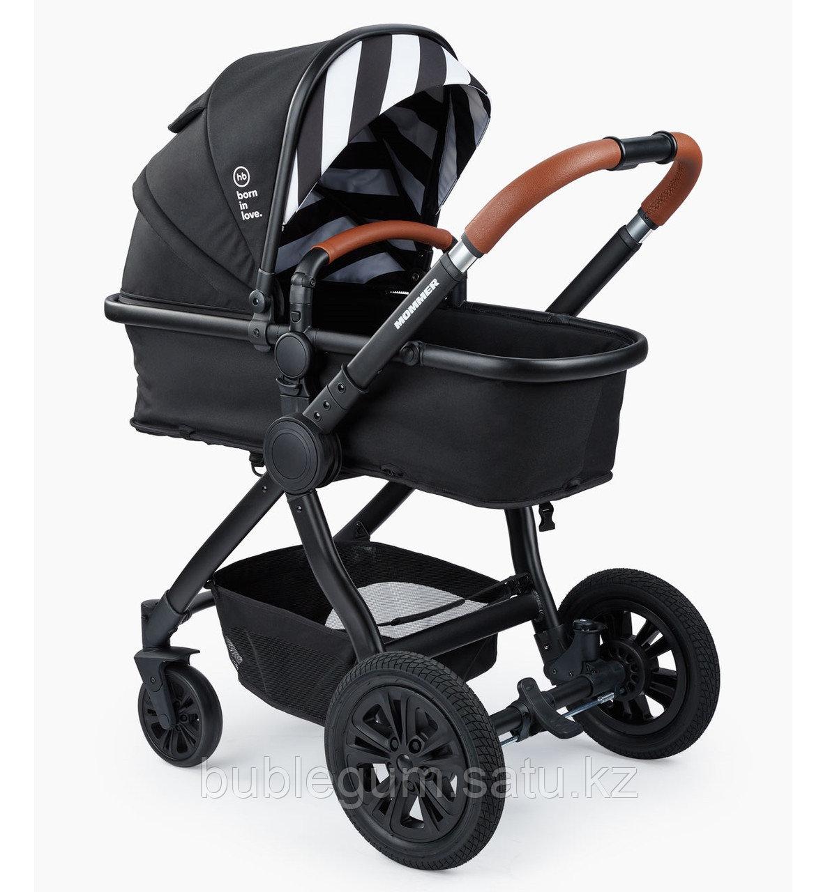Коляска-трансформер Happy Baby 2в1 MOMMER (black), с 0 до 3 лет