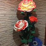 Большие Цветы. Стойка из трех роз. Creativ 1216, фото 2