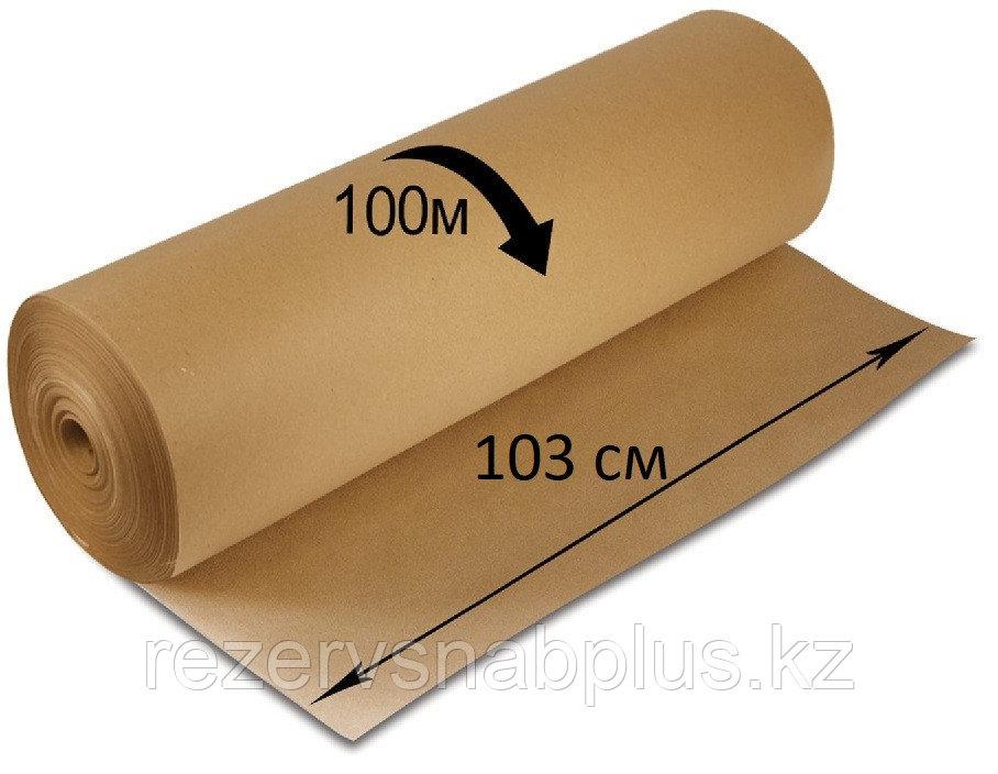 Крафт бумага в мини рулоне 78 гр 103 см 100 метров - фото 1