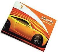 """Альбом для рисования 12 л. А4 """"Машинки"""" (ассорти)"""