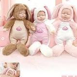 Кукла honey bunny плюшка в костюме зайца ( спящая) 40 см, фото 2