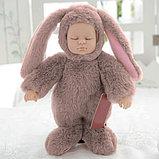 Кукла honey bunny плюшка в костюме зайца ( спящая) 40 см, фото 3