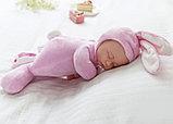 Кукла honey bunny плюшка в костюме зайца ( спящая) 40 см, фото 7